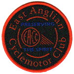 EACC black embroidered badge