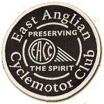 EACC black/white embroidered badge