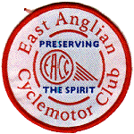 EACC white embroidered badge